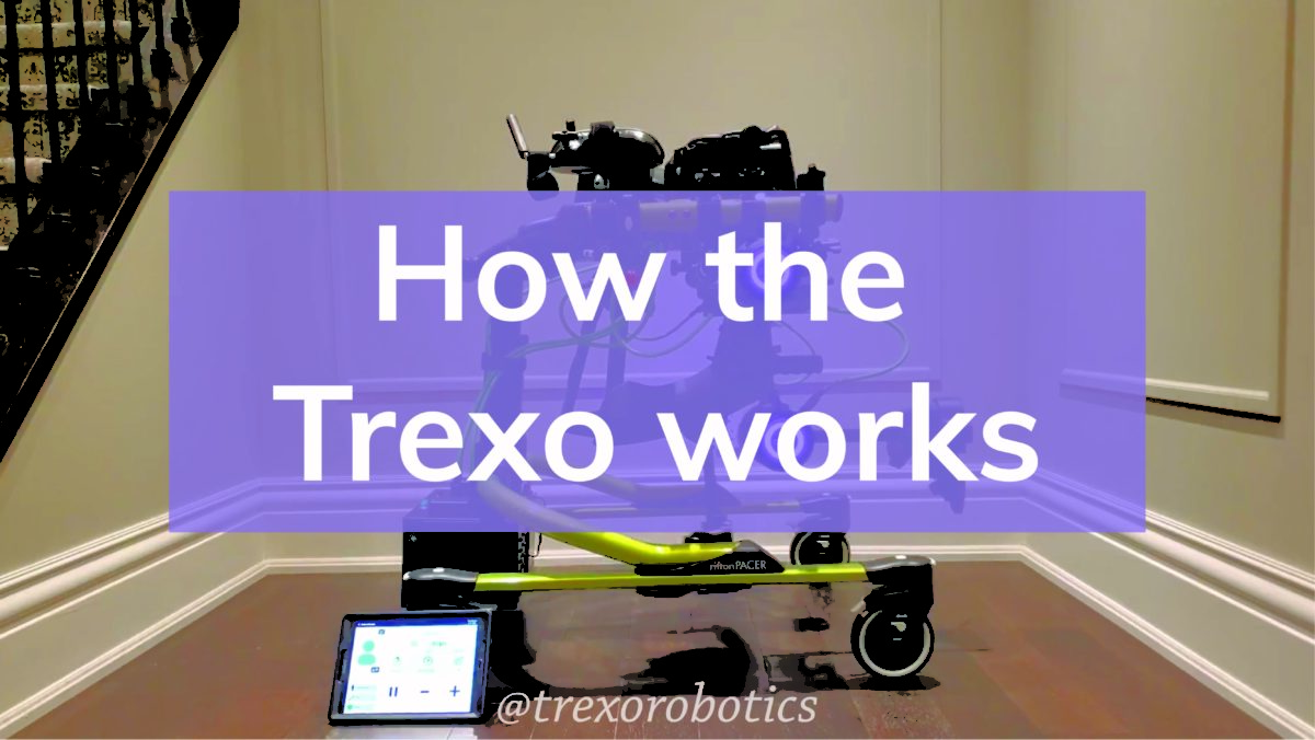 Rifton Dynamic Pacer gait trainer and Trexo - how it works