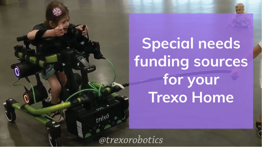 Girl with spina bifida walking with Trexo Home at Abilities Expo